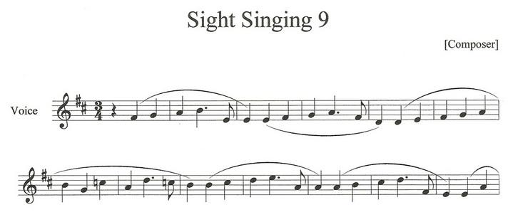 Sight Singing Examples - lambottesmusic