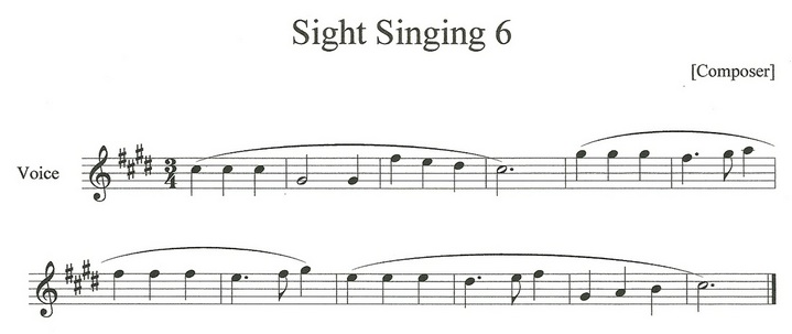 Sight Singing Examples Lambottesmusic